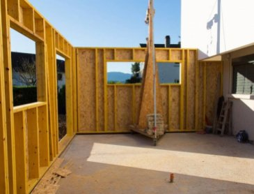 Entreprisepour extension de maison en ossature bois à Brindas