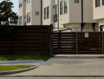 Pose de clôture rigide gris anthracite à Roanne